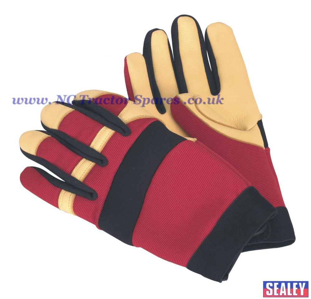 Mechanic's Gloves - Super-Soft Leather - Medium.